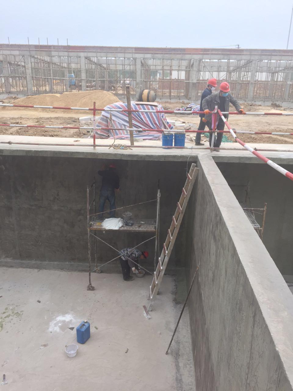 淮阴区垃圾电厂污水池防腐四布六油