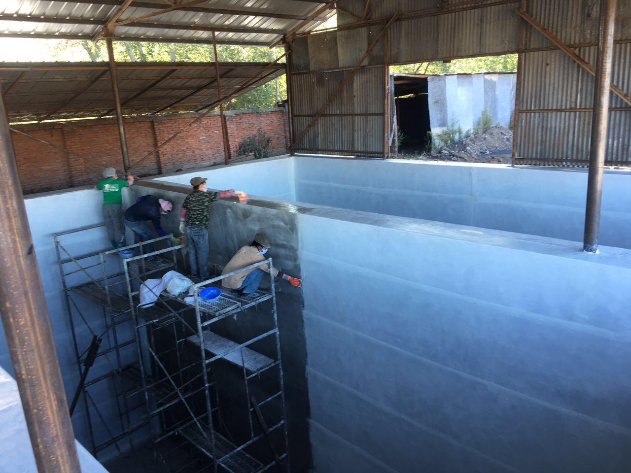 东莞污水池防腐环氧三布四油玻璃钢防腐