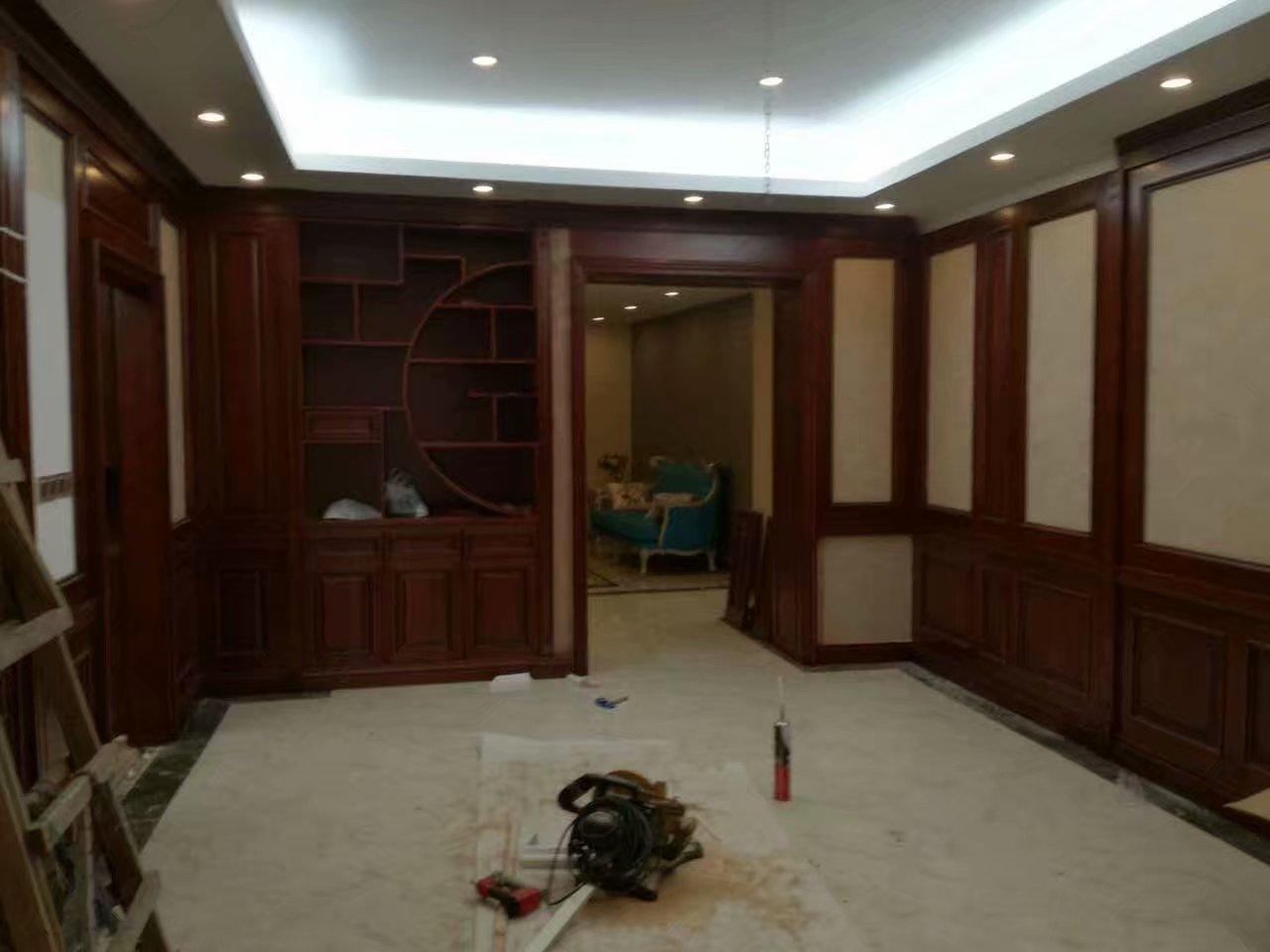 赤坎中式护墙板定制厂家,缅甸柚木墙板,全屋定制
