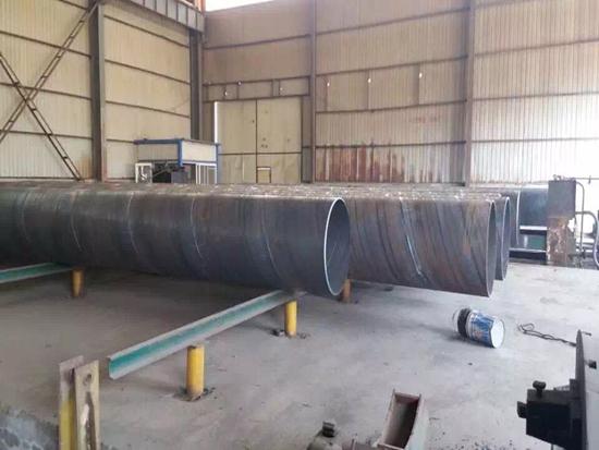 大口径内衬防腐螺旋钢管厂家制造