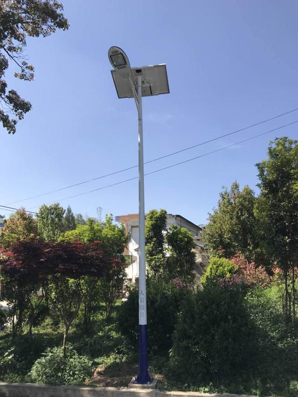 洛江农村6米7米太阳能路灯价格现货灯杆一套出售