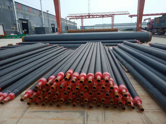 供暖用250*6聚氨酯发泡保温钢管一米多重,