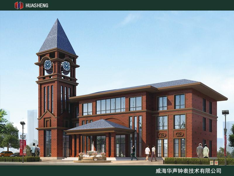 潍坊HS型楼顶电子钟HSLH牌大钟表采购与安装