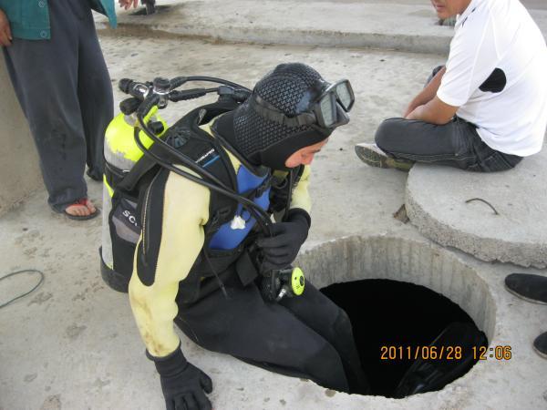 丹东市污水池封堵公司——2021潜水施工队