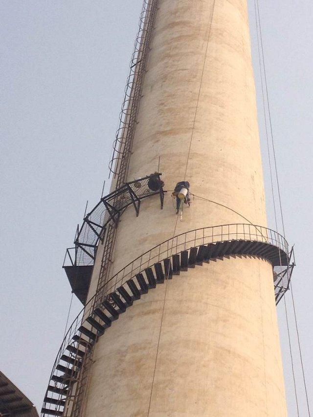 福清砖烟囱制作安装旋转爬梯公司——一般安装保多久?