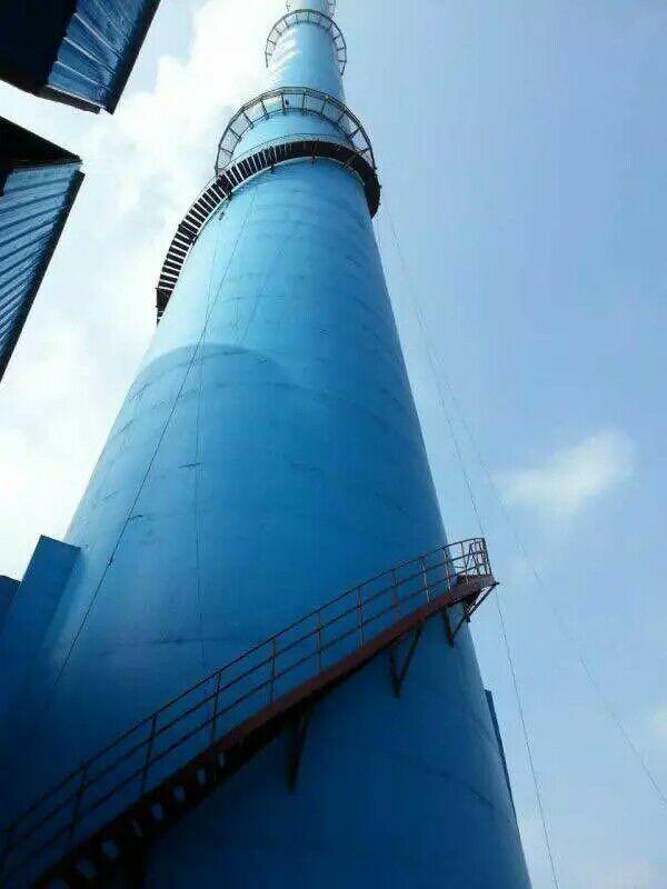 乐平水泥烟囱安装螺旋钢梯平台——烟筒安装哪家强