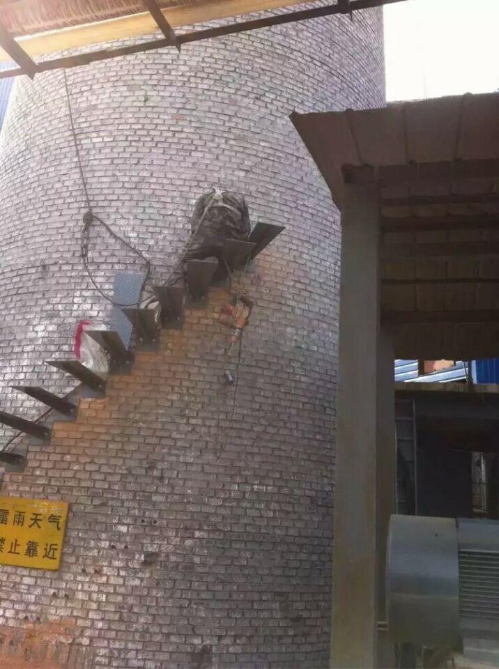 乐陵烟囱安装爬梯公司——三里港高空