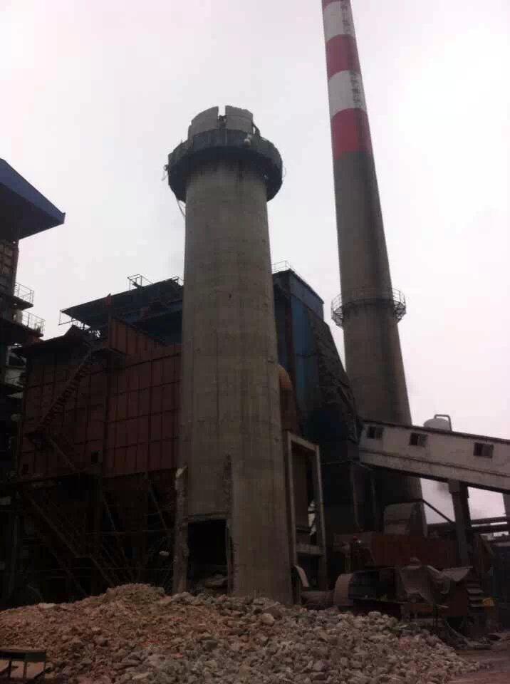 鄂州砖烟囱人工拆除公司-2021图片参考