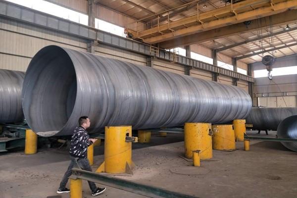 废水排放用碳钢螺旋管生产商:吉安市