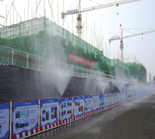 湘潭矿山工地除尘喷淋围挡喷淋降尘系统