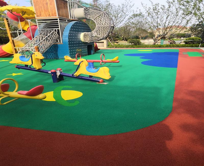 北塘公园塑胶健身场地生产厂家