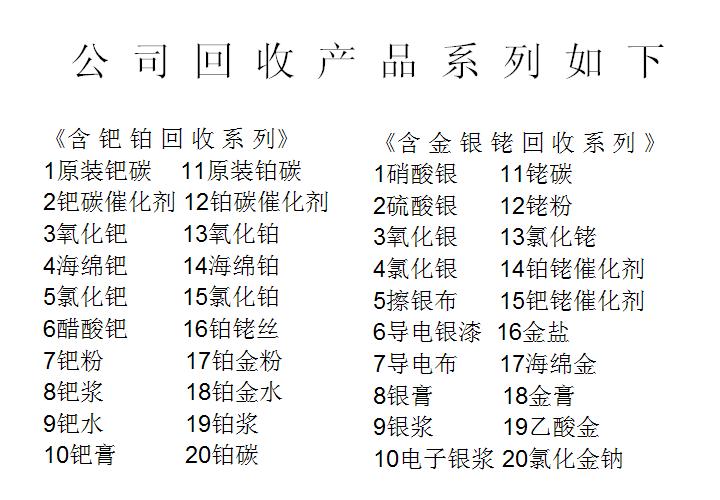 河南含铑废料回收公司报价【诚信交易】