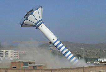 武威60米烟囱拆除_拆烟囱公司报价——【华电高空】