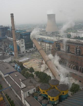 渭南烟囱拆除公司_专业拆烟囱公司——【华电高空】