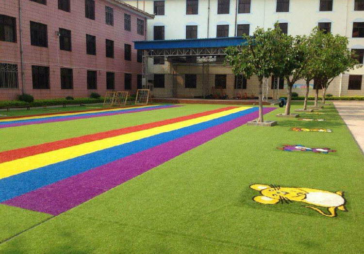 (保定博野)幼儿园彩虹跑道铺设材料绿色环保无毒