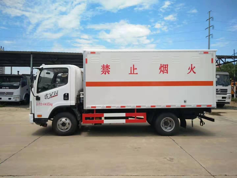 解放国六危险品易燃气体平板转运车厂家