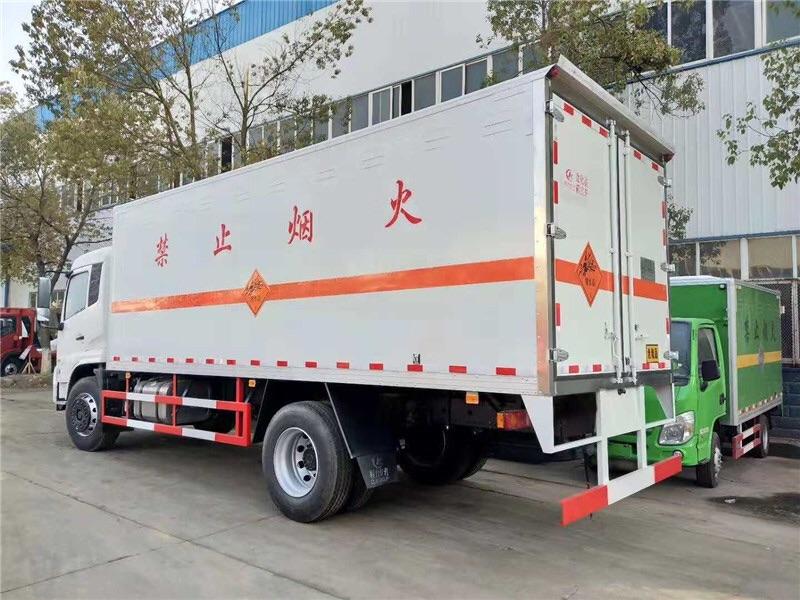 解放5吨危险品易燃气体厢式运输车车型
