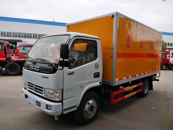 解放5吨危险品液化气钢瓶厢式货车车型