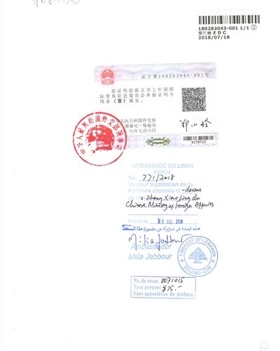城子河(护照公证书)菲律宾大使馆认证