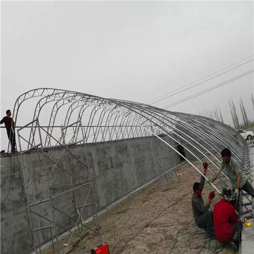 嘉兴南湖区防腐几字钢大棚骨架因地制宜温室大棚
