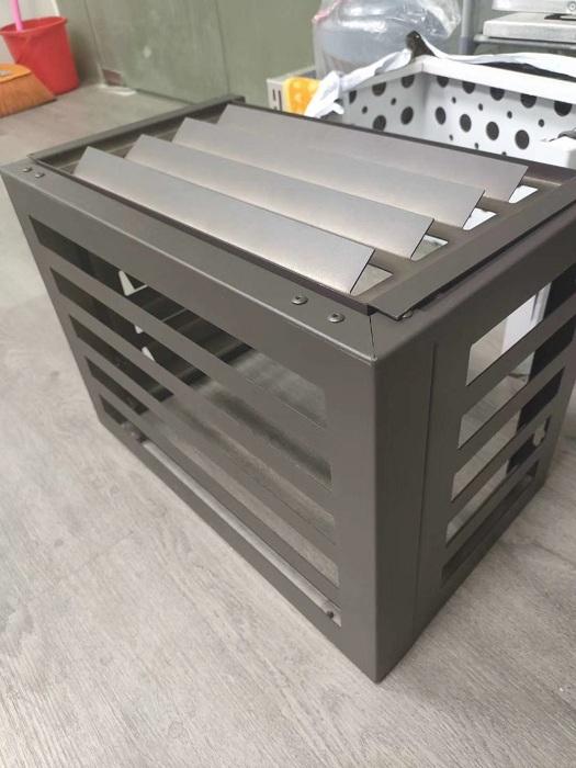 谢岗金属空调罩安装示意图