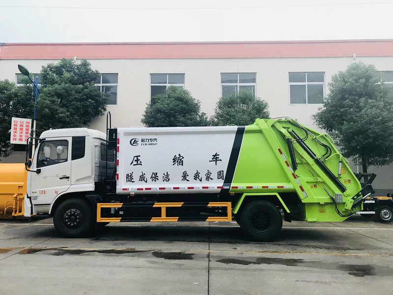 江淮10方环卫挂桶压缩式垃圾收集车厂家