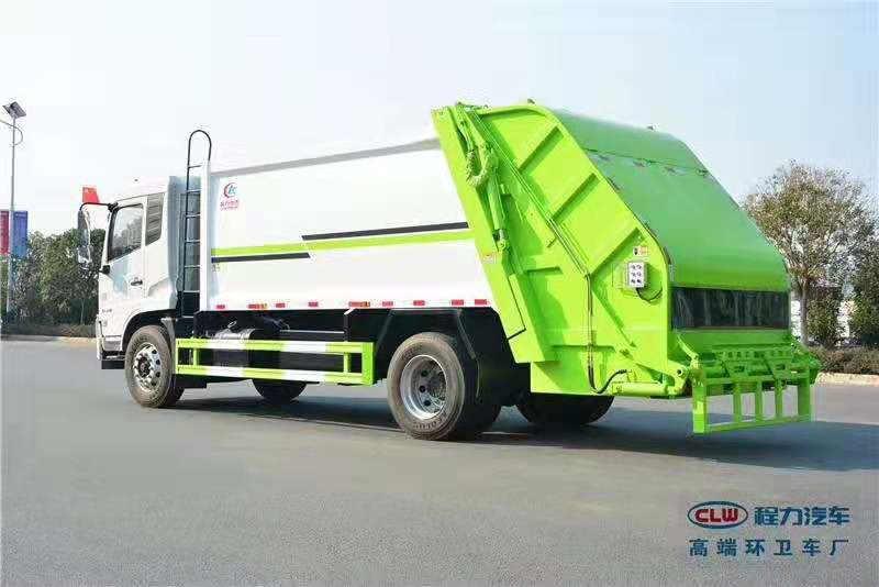 福田3吨环卫挂桶压缩式垃圾清运车车型