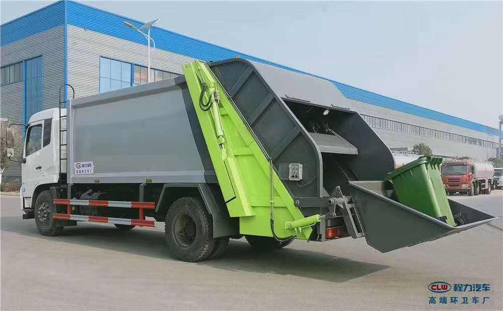 解放10吨乡村环卫后装压缩式垃圾保洁车价格