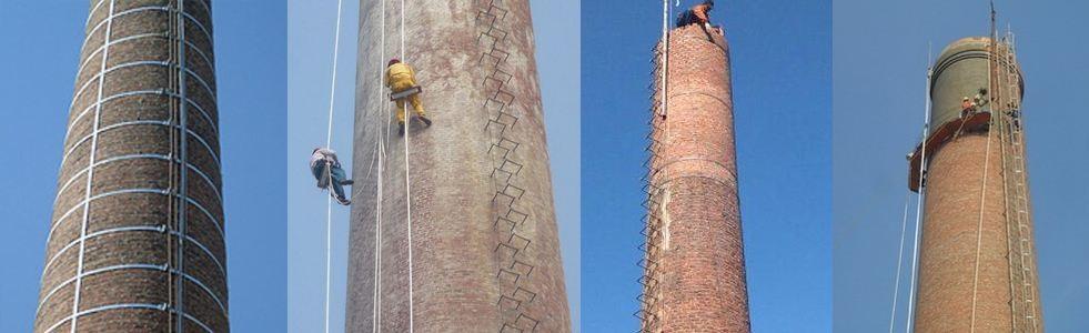 莱芜烟囱加高-烟囱倾斜拆除加高