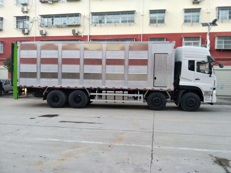 抚州市自动升降畜禽运输车恒温猪仔运输车