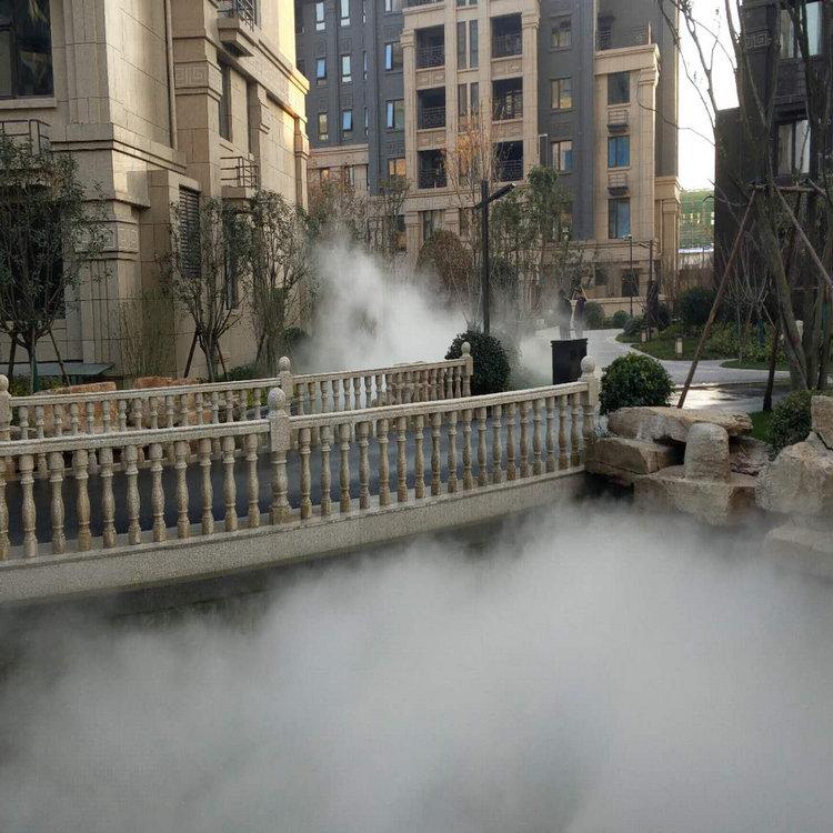 曲靖花园景观造雾 人工造雾设备方案