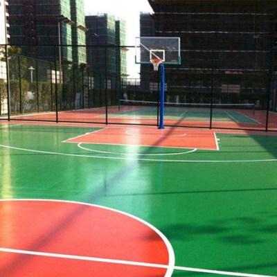报价滴道篮球场塑胶场地多少钱一平米