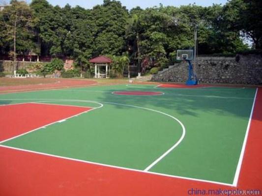 2020吉林昌邑塑胶篮球场施工