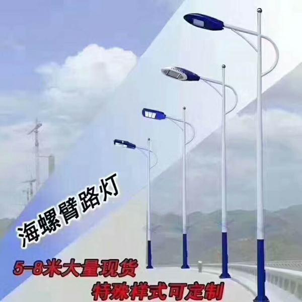 綿竹12米15米市電路燈桿價格LED路燈廠家