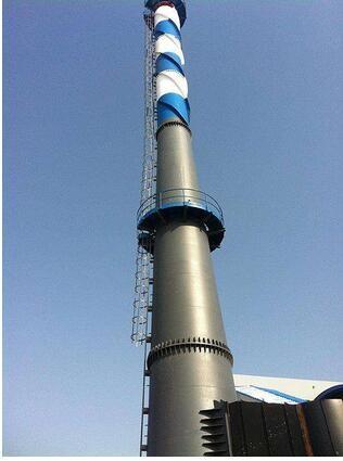 乐山峨边120米水泥烟囱刷航标施工服务技术卓越