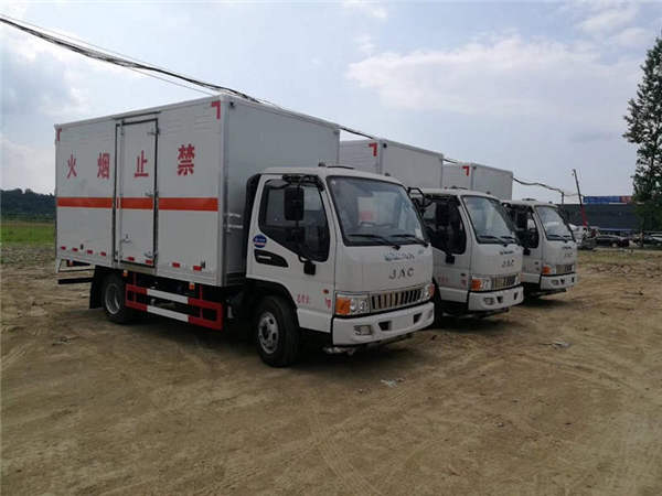 解放5米2危险品易燃气体厢式配送车车型