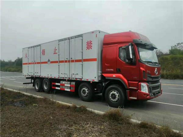 解放3吨危险品液化气钢瓶厢式运输车车型