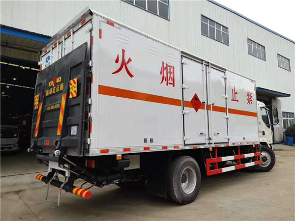 解放危险品易燃气体平板配送车车型