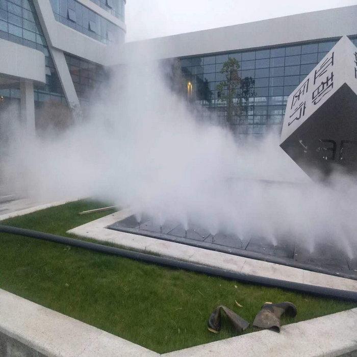 邵阳游乐场喷雾景观,学校雾森系统施工