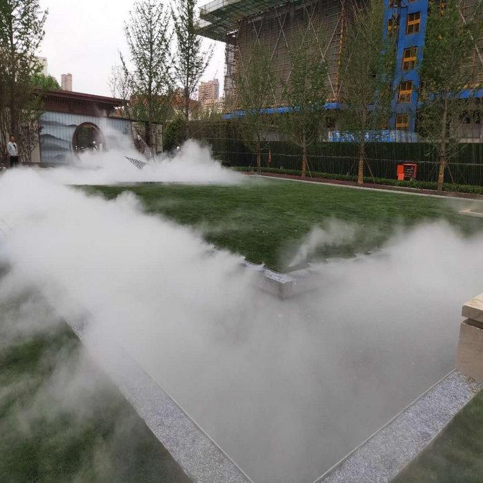 鄂州景区喷雾降温工程,景观冷雾降温设备方案