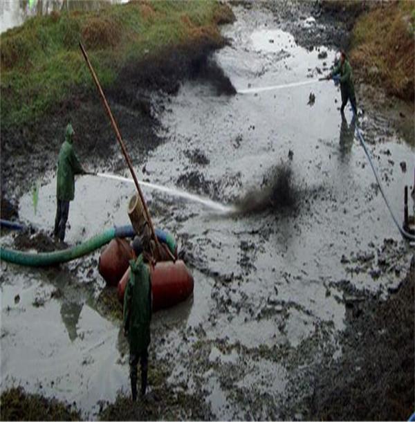 金普新区码头清理工程公司@泥浆泵清淤施工