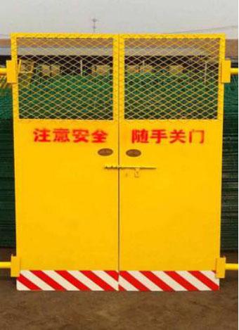 焦作施工电梯楼层防护门_焦作电梯安全防护门生产厂家