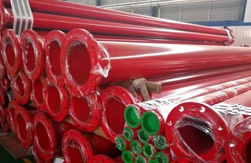 海西天峻DN250涂塑复合螺旋焊管--厂家图片