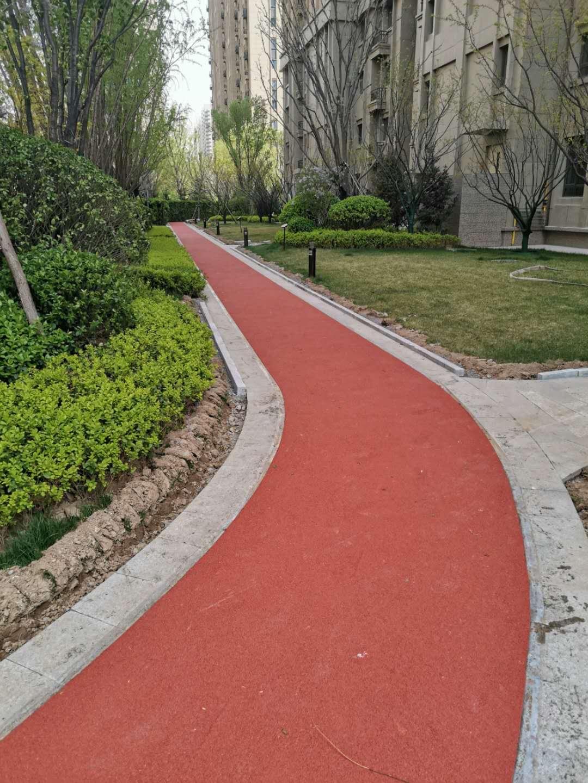灞桥公园小区幼儿园橡胶健身步道每平米价格