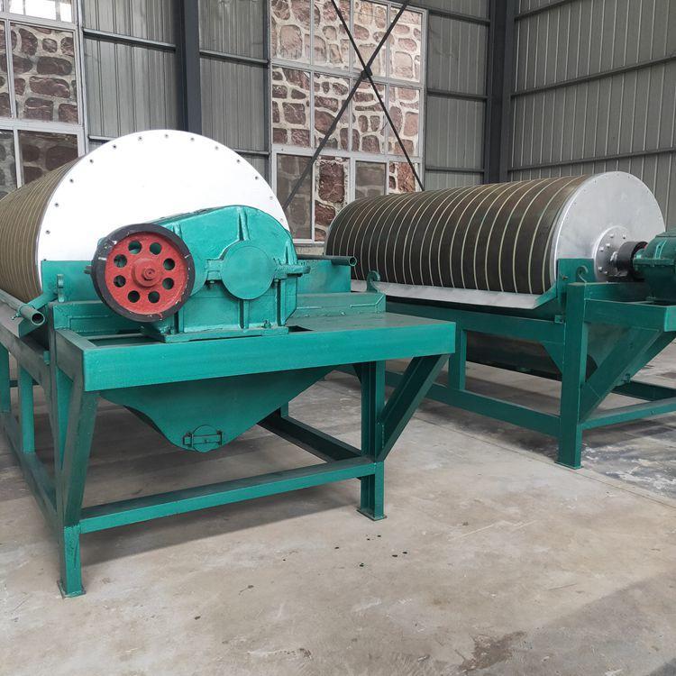 丹巴赤铁矿湿式磁选机鑫超磁选机分选塑料不锈钢