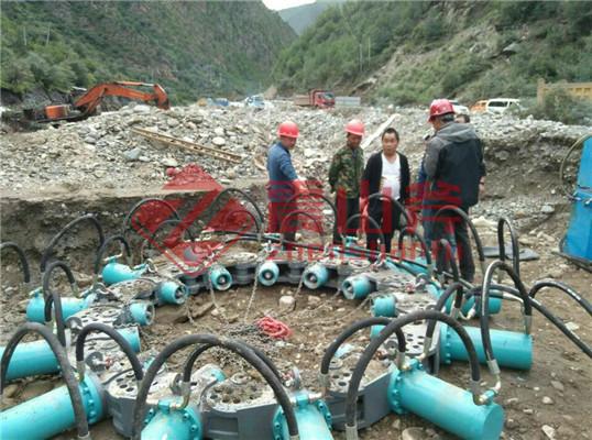 济南济阳水混液压截桩机使用原理