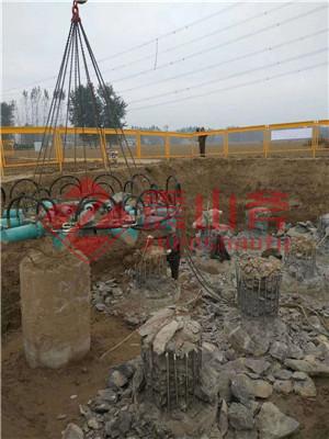 榆林佳县液压破桩设备施工现场