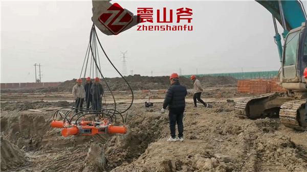 晋中太谷截桩_震山斧新型破桩头机械